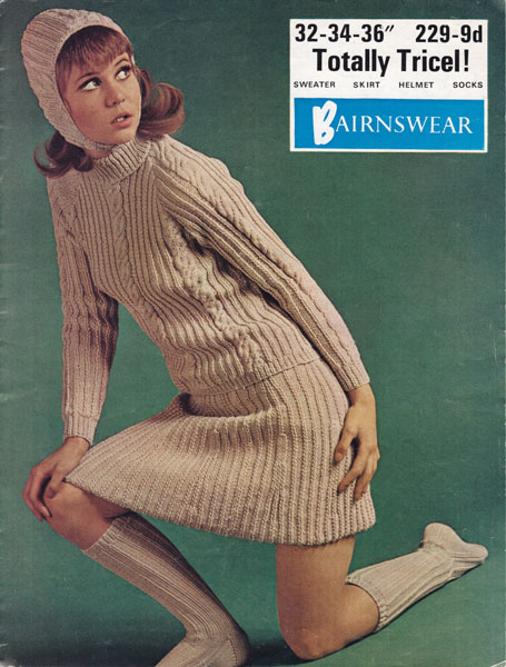 Vintage Ladies Aran knitting patterns available from The Vintage Knitting Lady