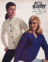 vintage knitting patternladies aran chunky cardgian knitting pattern 1960s