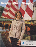 vintage ladies jacket with collar 1960s knitting pattern