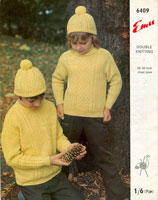 vintage aran jumper for boy or girl knitting pattern