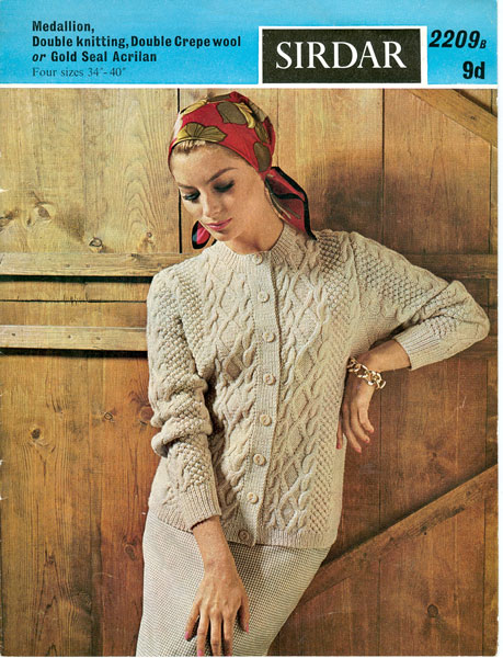 Sirdar : Sirdar 2209: Great vintage aran cardigan knitting pattern for an ...