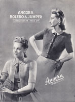 vintage ladies cardigan and bolero in angora knitting pattern 1930s