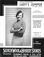 vintage ladies cable jumper knitting pattern 1930s