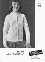 vintage aran cardigans for child