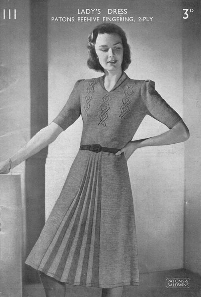 Old Knitting Lady : Vintage ladies dress knitting patterns available from the
