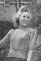 vintage ladies knitting pattern 1940s ladies jumper
