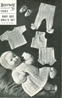 vintage baby dolls knitting pattern