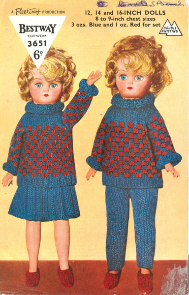 Knitting Patterns For Teenage Dolls : Vintage knitted dolls clothes patterns available from The ...