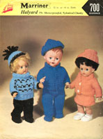 vintage doll knitting pattern