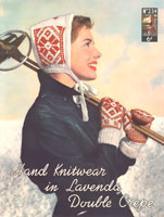 vintage lavenda 234 ladies bonnet and mittens in fair isle knitting pattern from 1940s