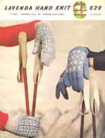 lavend a629 vintage ladies fair isle gloves and mittens knitting pattern from 1950s