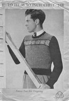 vintage mens fair isle jumper 1950s