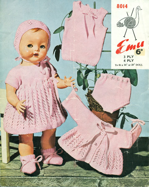 Vintage Knitting Patterns For Dolls Clothes : Vintage knitted dolls clothes patterns available from The ...