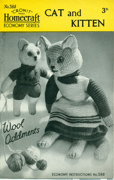 vintage knitted toy knitting patterns available from the
