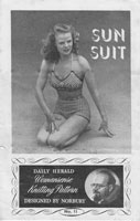 vintage knitting 1940s fair isle swim suit
