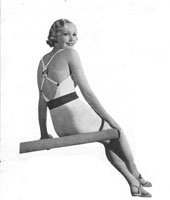 vintage knitting pattern 1930s swim suit