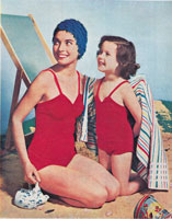 vintage knitting machine pattern for girls swim suit 1958