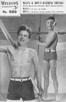vintage knitting pattern for boys swim trunks 1940