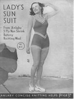 ladies swim suit from 1940s