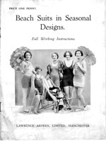vintage book with 1920 swim wear
