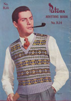 mens vintage knitting pattern fair isle tank top or vest