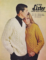 vintage mens ladies arn knitting pattern 1960s