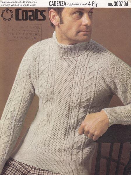 Mens Aran Jumper Knitting Patterns : aran mens jumper knitting pattern