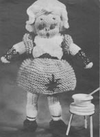 vintage toy knitted doll