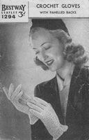vintage glove knitting pattern 1940s