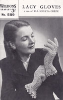 weldons 589 knitted and crochet gloves