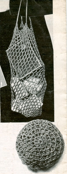 Knitting Pattern For A String Bag : vintage knitting pattern for string bag