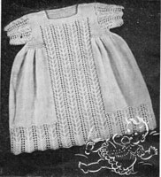vintage baby dress knitting pattern 1930s