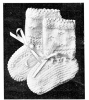 vintgae knitting pattern for mittens 1920s