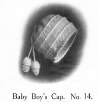vintage baby boy cap knitting pattern from 1920