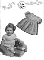 vintage knitting pattern for lace dress for baby 1940s