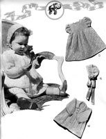vintage baby dress set knitting pattern from 1940
