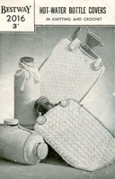 vintage knitting pattern for hot water bottle covers