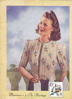 vintage tyrolean style 1940s jacket knitting patterns