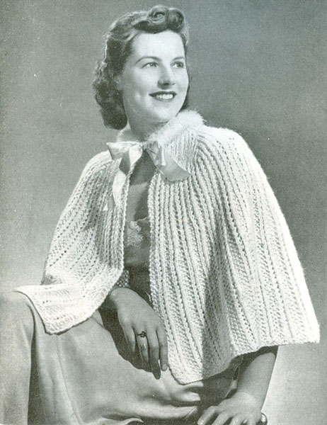 Knitting Pattern Bed Cape : Vintage Bed Jacket and Bedwear Knitting Patterns from The Vintage Knitting Lady
