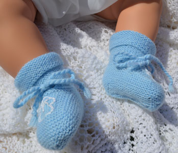 vintage bootes hand knitted in the 1960s
