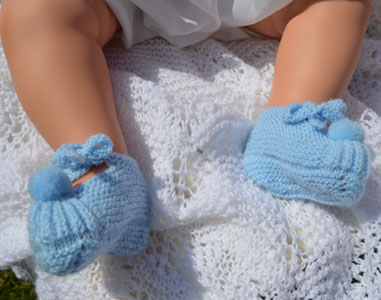 vintage pure wool slippers hand knitted