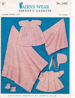 vintage knitting pattern for baby 1950