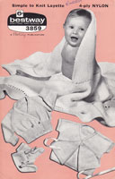 vintage baby knitting pattern for baby layette outfit set 1950s