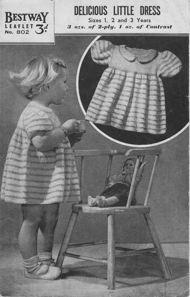6a478778bae5 Vintage knitted childrens clothes patterns available from The ...