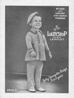 vintage ladyship baby knitting pattern coat and trousers 1930s