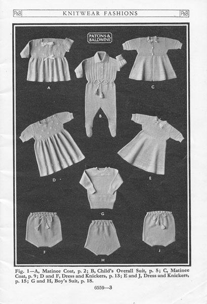 Wartime Knitting Patterns : Vintage Baby Clothes Knitting Patterns from The Vintage Knitting Lady