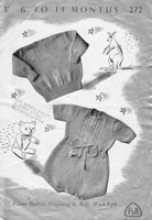 vintage knitting patterns baby silver