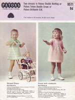vintage toddler dress knitting pattern 1960s