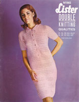 vintage crochet shirt style dress 1960s lister n1903