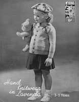 vintage childs fair isle knitting pattern golly beret and cardigan 1940s